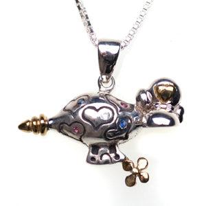 Sterling silver Hearts & Jewels | Zeppelin Earrings