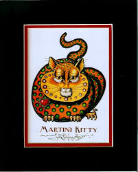 Martini Kitty 8″ x 10″ Double Matted Print