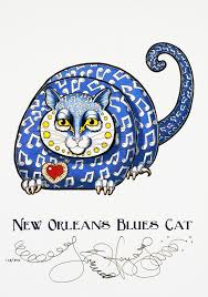 New Orleans Blues Cat Limited Edition Print