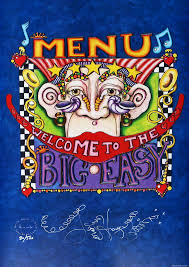 New Orleans Menu Limited Edition Print