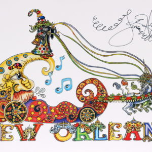 New Orleans Floating Wizard Limited Edition Print