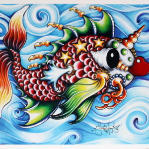 Pucker Fish on Blue Limited Edition Print