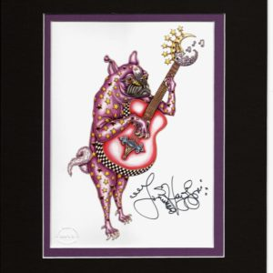 Pug Playing Guitar 8″ x 10″ Double Matted Print