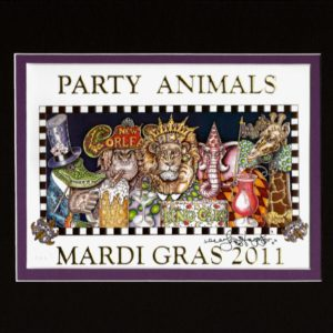 Party Animals 2011 8″ x 10″ Double Matted Print