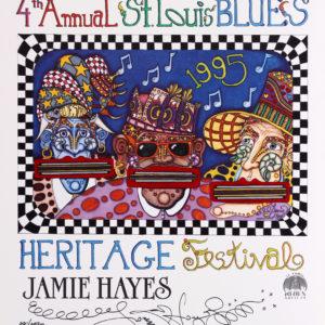 St. Louis Blues Festival 1995 Poster