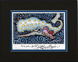 Starry Sperm Whale 8″ x 10″ Matted Print