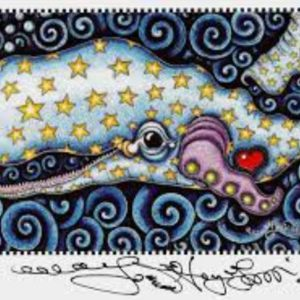 Starry Sperm Whale Print