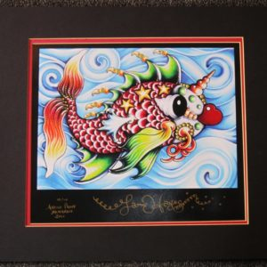 Pucker Fish in Blue Water Giclee, signed