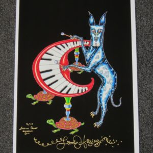 Great Dane Playing Piano Fine Art Giclee, Signed