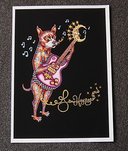Dog Playing Guitar Fine Art Giclee, Signed