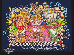 Happy Mardi Gras Fine Art Giclee, Signed
