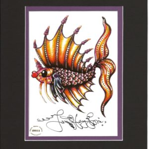 Left-Facing Pucker Fish 8″ x 10″ Matted Print