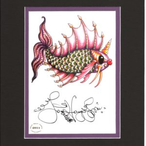 Right-Facing Pucker Fish 8″ x 10″ Matted Print