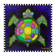 Rainbow Turtle Lithograph: Limited Edition