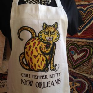Chili Pepper Kitty Apron