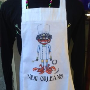 New Orleans Chef with Lobster Shoes Apron