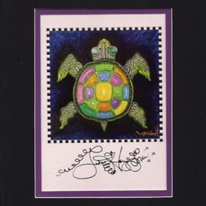 Louisiana Turtle 8″ x 10″ Double Matted Print, Signed