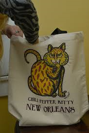 NEW! Chili Pepper Kitty Canvas Tote