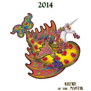 Krewe of the Mystic Unicorn Mardi Gras 2014 Limited Edition Fine Art Giclee