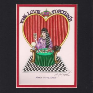New Orleans Fortune Teller Matted 8″ x 10″ Giclee, signed