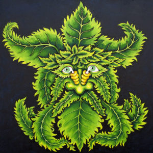 New Orleans Leaf Man, Hand-Stretched Giclee on Canvas, signed and numbered