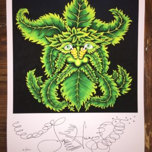 Leaf Man Limited Edition Fine Art Giclee, signed 12 x 16