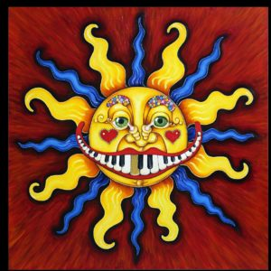 Piano Sun Man, Hand-Stretched Giclee on Canvas, signed and numbered 24″ square