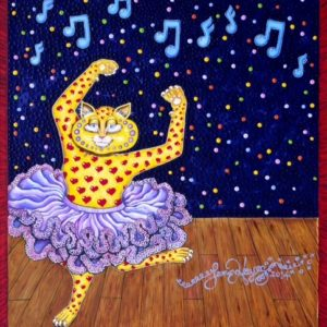 Tutu Kitty, Museum Quality Giclee on Canvas, 31″ X 38″ signed and numbered