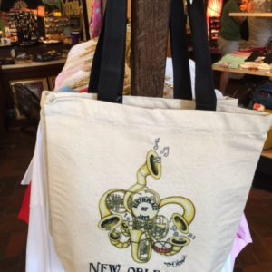 Birthplace of Jazz New Orleans Canvas Tote