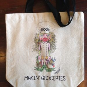 I Love to Cook Chef Canvas Tote