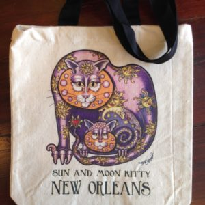Sun and Moon Kitties Canvas Tote