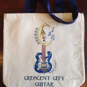 Crescent City Guitar Canvas Tote