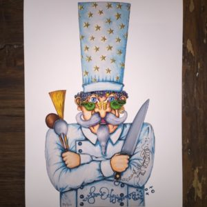 Mr. Chef Limited Edition Fine Art Giclee, signed 12 x 16