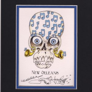 Music Note Skull 8″ x 10″ Fine Art Giclee, signed