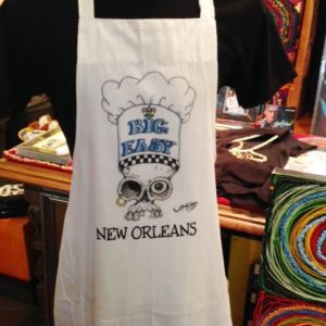 "Skull with ""Big Easy"" Chef Hat Cotton Apron"