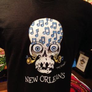 Skull with Music Notes 100% cotton crew neck T-Shirt, Choose your shirt color!