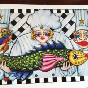 5 Star Chefs fine art giclee on paper, signed and numbered by Jamie, 10″ x 24″