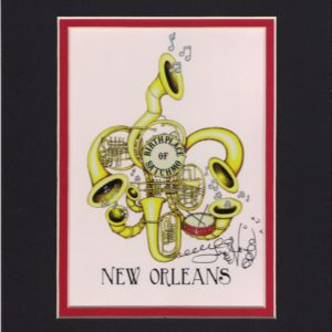 Birthplace of Satchmo 8″ x 10″ Fine Art Giclee, signed