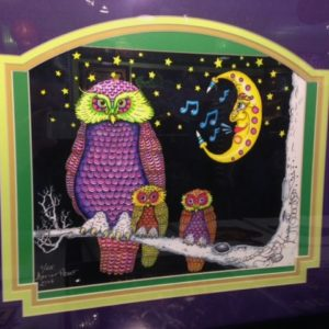 "FRAMED ""Night Owl in the Moonlight"", fine art giclee on paper, signed and numbered by Jamie"