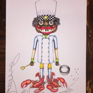 Lobster Chef Limited Edition Fine Art Giclee, signed 12 X 16