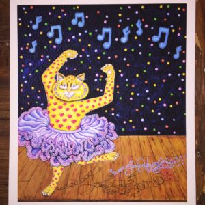 Tutu Kitty Limited Edition Fine Art Giclee, signed 12 X 16