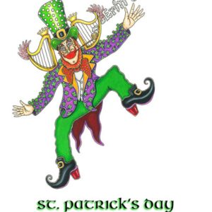 Happy St. Patrick's Day Limited Edition Fine Art Giclee, signed, 12 x 16
