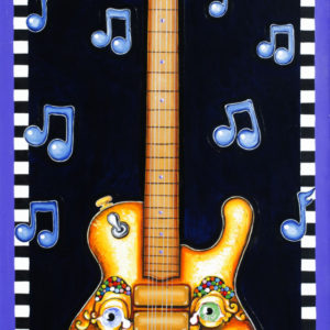 Piano Mouth Guitar fine art giclee on paper, remarqued, signed and numbered by Jamie
