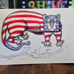 Flag Kitty Limited Edition Print, Signed