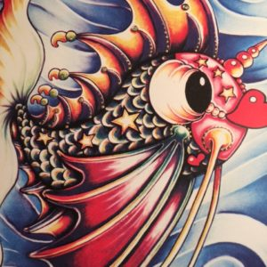 PUCKER FISH HAND PULLED SERIGRAPH, signed & remarqued 20″ X 26″