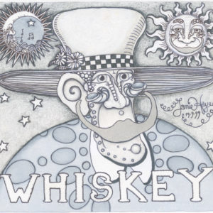 Whiskey Black & Grey limited edition giclee, Signed