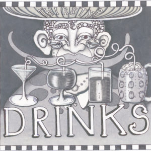 Drinks Black & Grey limited edition giclee, Signed