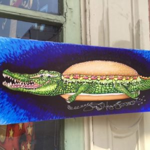 Gator Po-Boy  Giclee on Canvas, signed, numbered and remarqued 8″ x 22.""