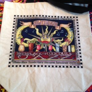 Birthplace of Cocktails and Jazz New Orleans Canvas Tote