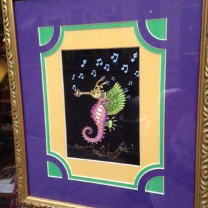 New Orleans Sea Horns 12″ x 14″ Framed Giclee